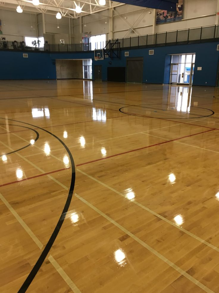 Gymnasium Floor Refinishing in British Columbia with AHF All hardwood floor Ltd