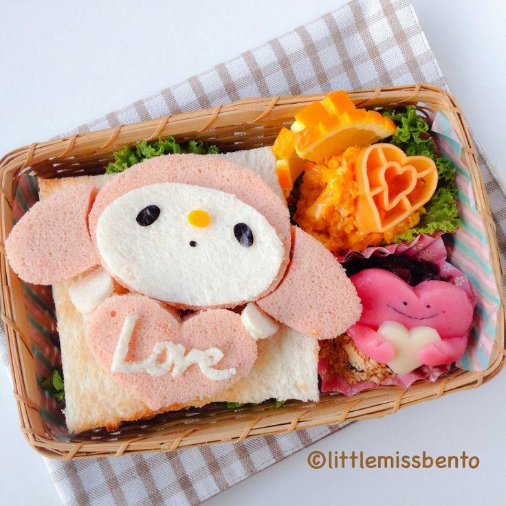 Little Miss Bento シャリーのかわいいキャラベン: Valentine Bento バレンタインのキャラベン - tutorial