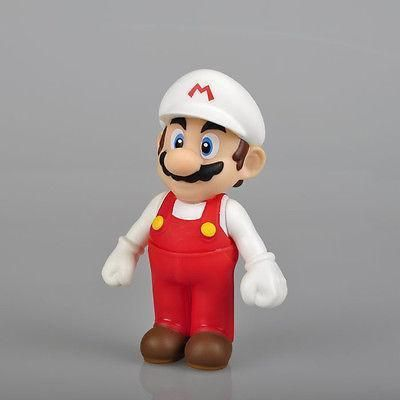 """Toys New 2017 Pudcoco Cute Cartoon Doll Kids Most Popular Cartoon Figure 5"""" MARIO Action Figure Toy White Hat"""