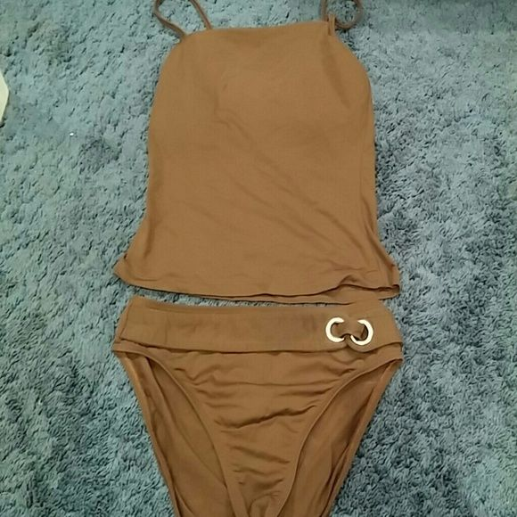 """""""Baja Blue"""" Brown Tankini """"Baja Blue"""" Brown Tankini with silver accent. Baja Blue Other"""