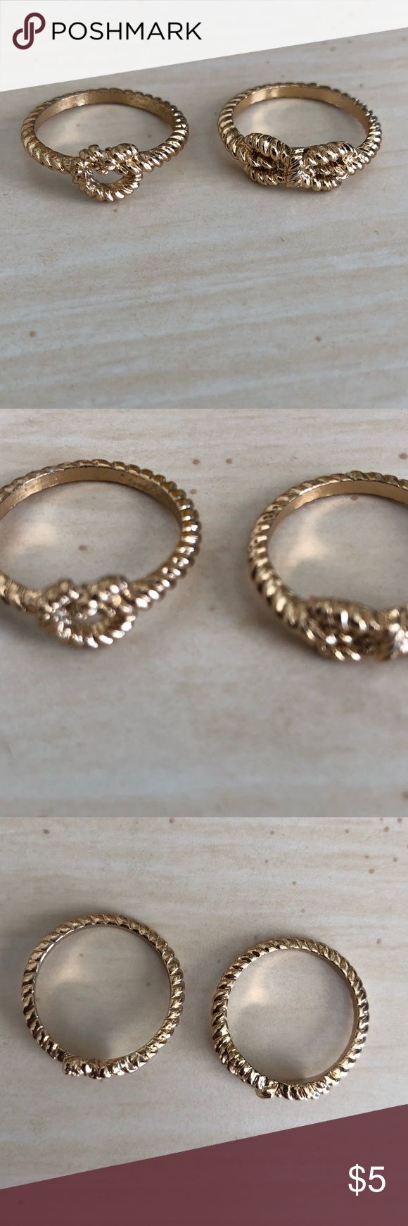 NWOT Aldo rings NWOT Aldo gold rope knot rings. Approx size 5.5-6. Both rings are the same size. Aldo Jewelry Rings