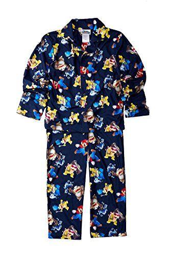 Super Mario Brothers U Button Front Pajamas for boys (8) @ niftywarehouse.com #NiftyWarehouse #Geek #Gifts #Collectibles #Entertainment #Merch