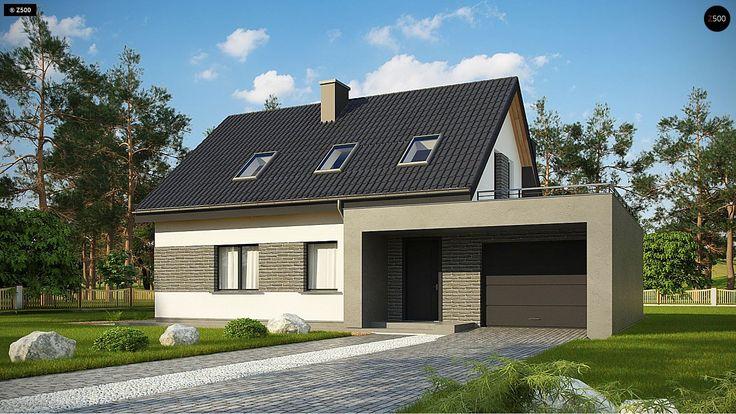 Общая площадь 167,9 м² Проект дома Z347 это проект двухэтажного дома из газобетона, который подойдет для проживания небольшой семьи.