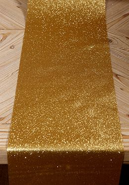 "9.99 SALE PRICE! Decorate your tables with an abundance of glamour using this gold glitter ribbon! This 10"" wide ribbon is covered with glitter on one side o..."