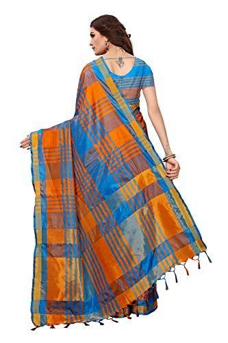 b05c723b2c81c Art Décor Multicolor Cotton Silk Festive wear Saree with Blouse ...