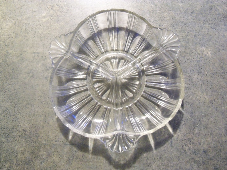 Vintage Clear Depression Glass Candy Dish 17 00 Via