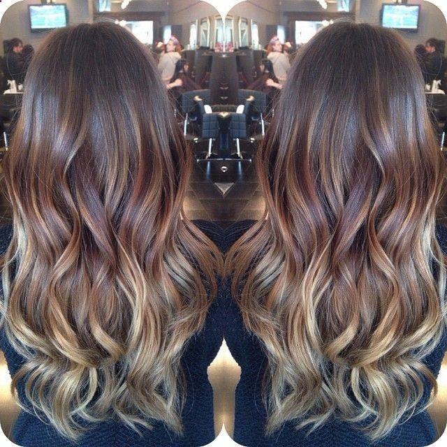 subtle ombre hair brunette - Google Search