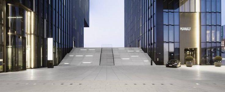 Zwillingstürme Hafenspitze Medienhafen mit Hyatt Regency Hotel Düsseldorf - Düsseldorf