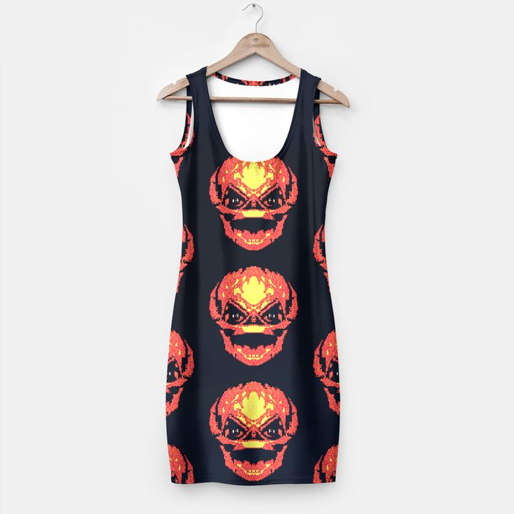 Trick R Treat Sam Live Heroes Dress by Fimbis  #trickortreat #trickrtreat #halloween #pumpkinhead #pumpkin #samhain #dress #dresses #womensfashion #women  Fully printed simple dresses that fit women of all shapes and sizes! Stylish and comfy.