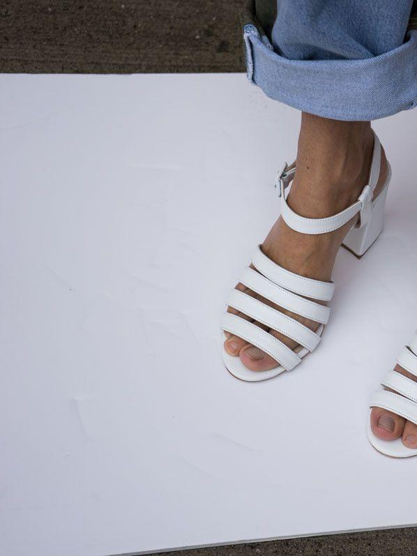 Maryam Nassir Zadeh White Calf Sandals