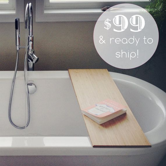 Ready to Ship Bamboo Bath Caddy 31.5 inches by BlisscraftandBrazen, $99.00 WANT!!!!
