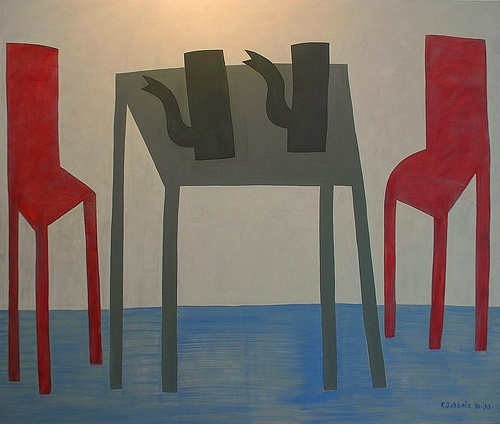 Title unknown (2000) by Dutch painter & sculptor Klaas Gubbels (b.1934). via groep acht nassau school