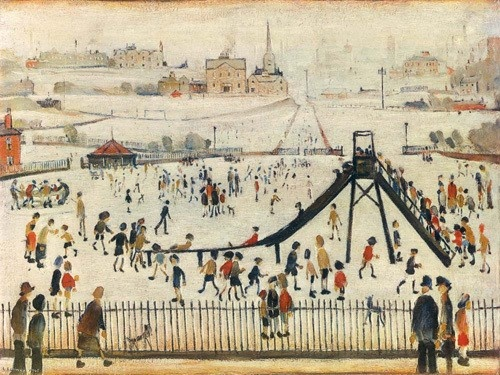 Childrens Playground...... by LS Lowry... Laurence Stephen Lowry.... 11/1/1887--2/23/1976.....from England
