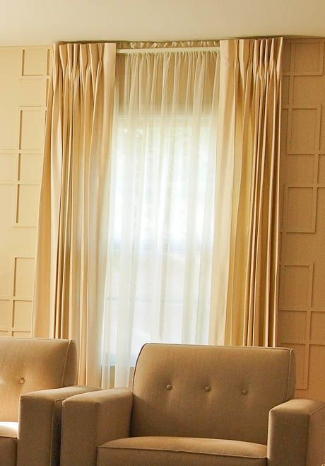 6 tips for using pinch pleat draperies as window treatments for a mid century home