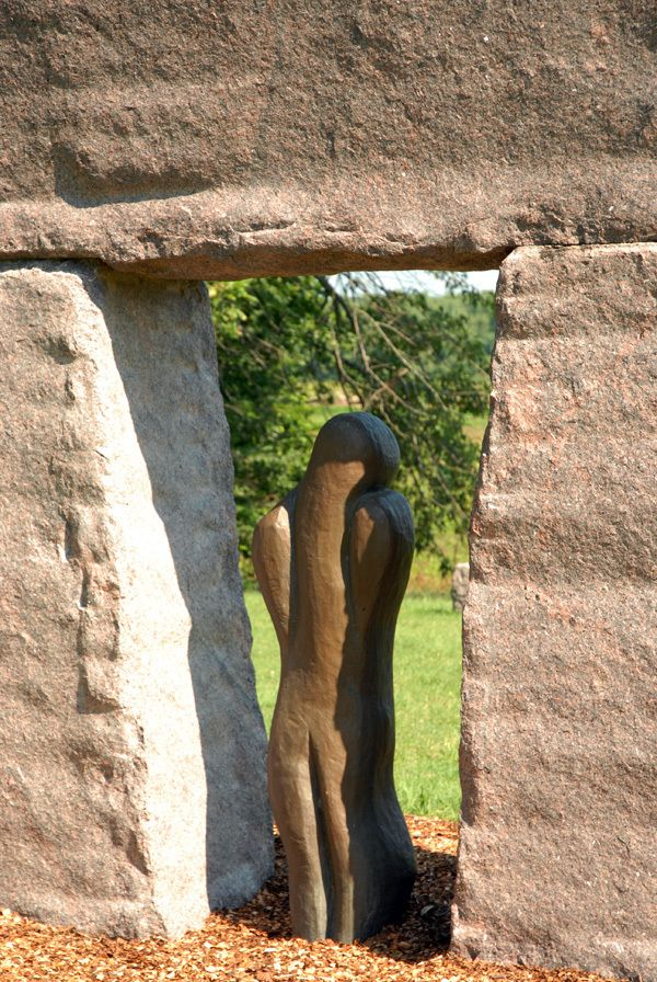 Sculpture from West of the Moon Writer's Retreat by Lafayette Wattles, via Behance