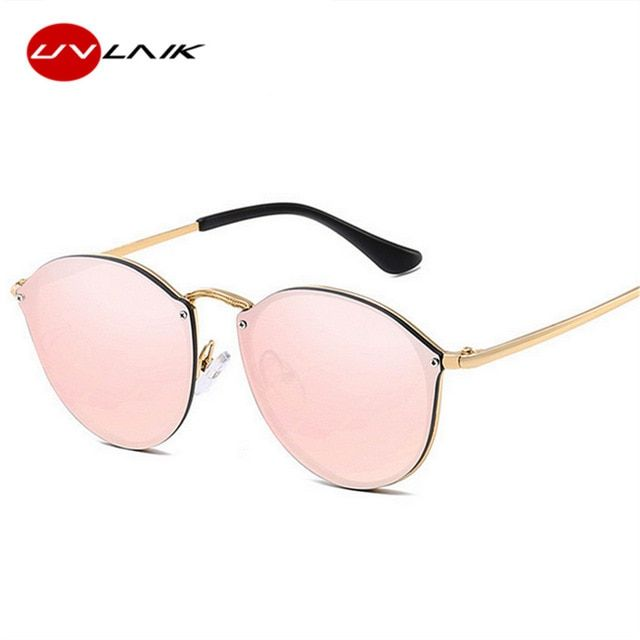 f297f8c19033 UVLAIK 2019 Cat Eye Sunglasses Women Luxury Rimless Sun Glasses Retro  Coating Frameless Sunglass Ladies Brand Designer uv400 Review