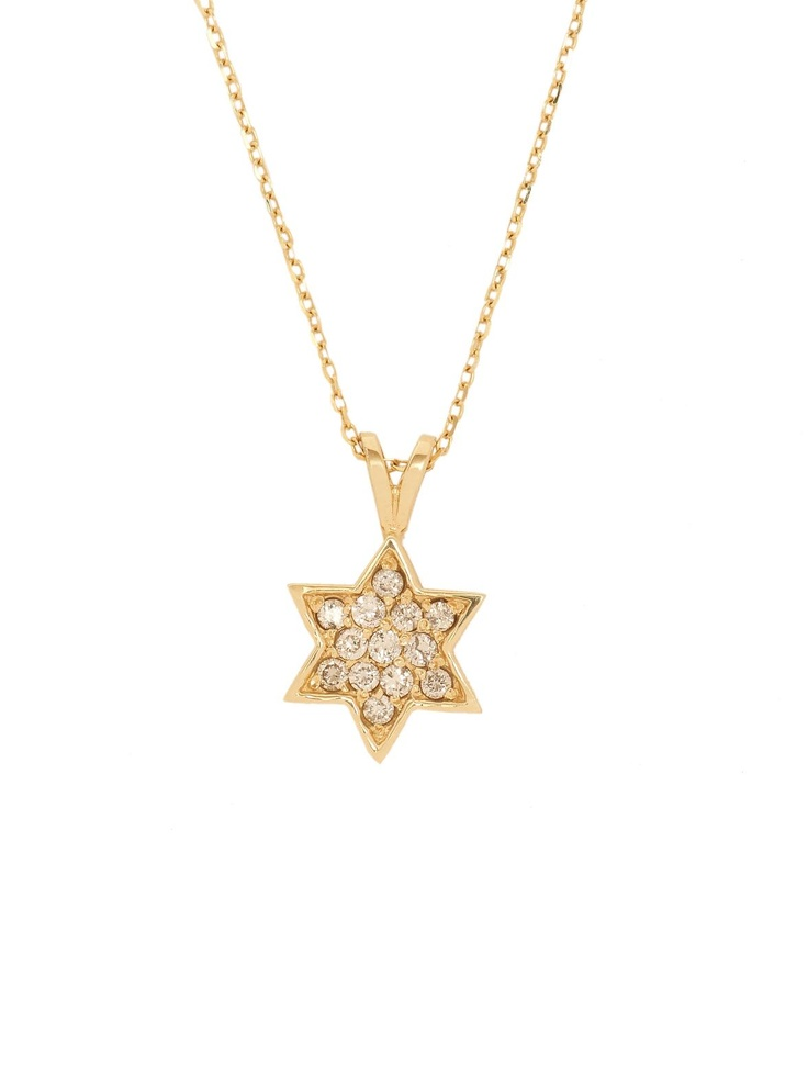 London Jewelers Collection 14k Yellow Gold and Diamond Star of David Pendant Necklace! $750