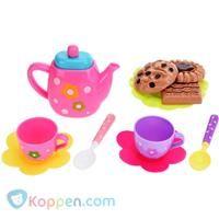 Thee speelset met koekjes -  Koppen.com
