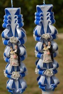 Lumanare de nunta sculptata LN 605 D36x90