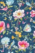 PiP Chinese Garden Dark Blue wallpaper | PiP Studio ©