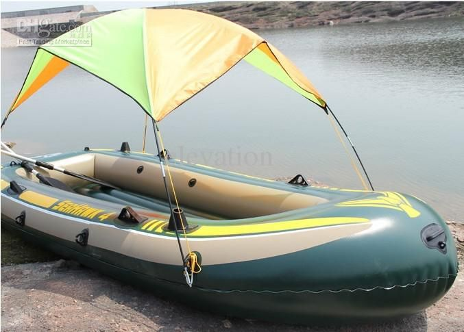 Inflatable boat sun shade canopy, inflatable boat awning ...
