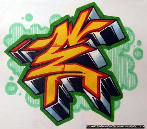 Graffiti Alphabet Styles, Letters E (5)