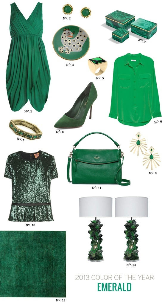 Pantone's 2013 Colour of the Year is Emerald Green!