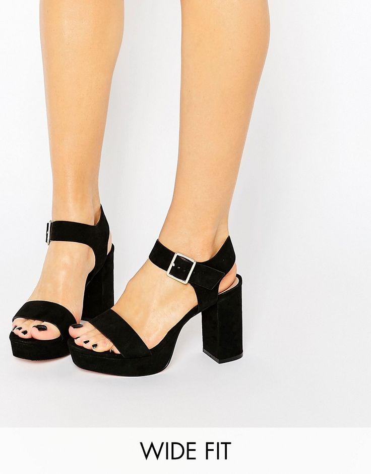 Image 1 ofASOS HARBOUR Wide Fit Platform Sandals