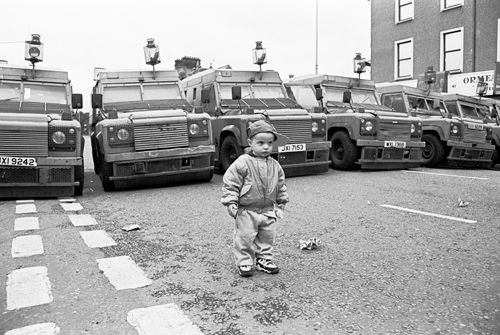 A little boy amidst the Troubles in Northern Ireland