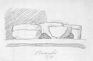 Giorgio Morandi, Still Life, 1958, pencil on paper