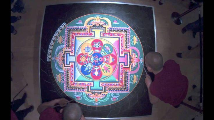 Sacred Tibetan Sand Mandala Time Lapse--AMAAAZING!!!!