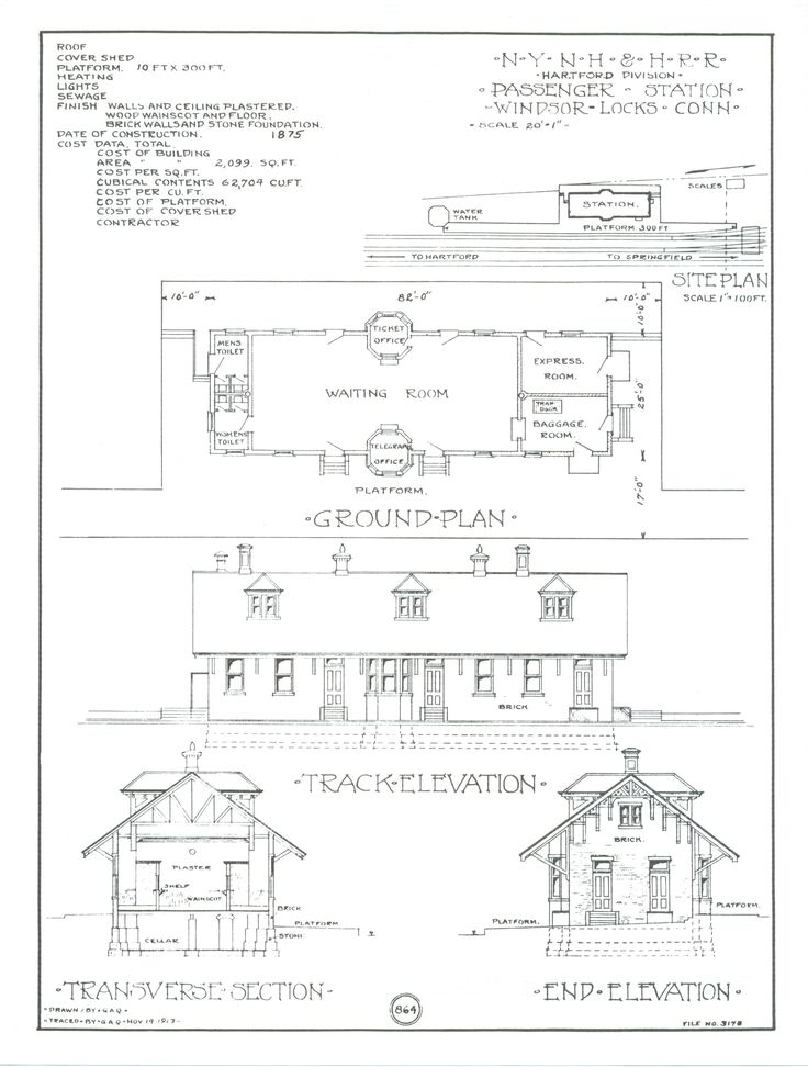 127 best railroad papers blueprints images on pinterest train train depot blueprints windsor locks preservation association history of the train station malvernweather Images