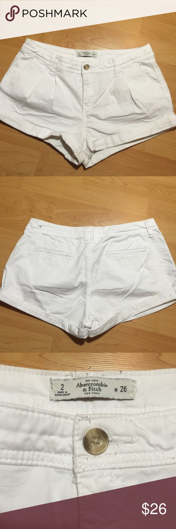 Abercrombie and Fitch white shorts Abercrombie and Fitch white shorts. Perfect for the summer. Abercrombie & Fitch Shorts Skorts