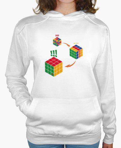 Sudadera con capucha. El Cubo de Rubik o #cubo_magico es un #rompecabezas mecánico tridimensional, #juego de #ingenio y el #juguete más vendido del mundo. Un #pasatiempo que requiere  #habilidad #inteligencia ¿te atreves? Hoodie kangaroo pocket. The Rubik's Cube or #magic_cube is a #three_dimensional mechanical #puzzle and the best selling #toy in the world. A #pastime that requires #skill #intelligence. Do you dare with this #game? https://www.latostadora.com/Flip_Original_Designs