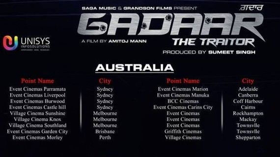 Theatrical listings of Gadaar The Traitor movie in New Zealand and Australia - http://sikhsiyasat.net/2015/05/29/theatrical-listings-of-gadaar-the-traitor-movie-in-new-zealand-australia/
