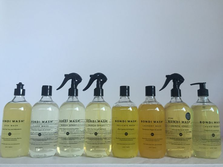 Bondi Wash products are scented only with pure essential oils which is why they are all different tones