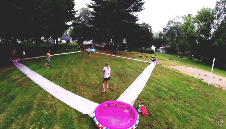 slip n slide kickball