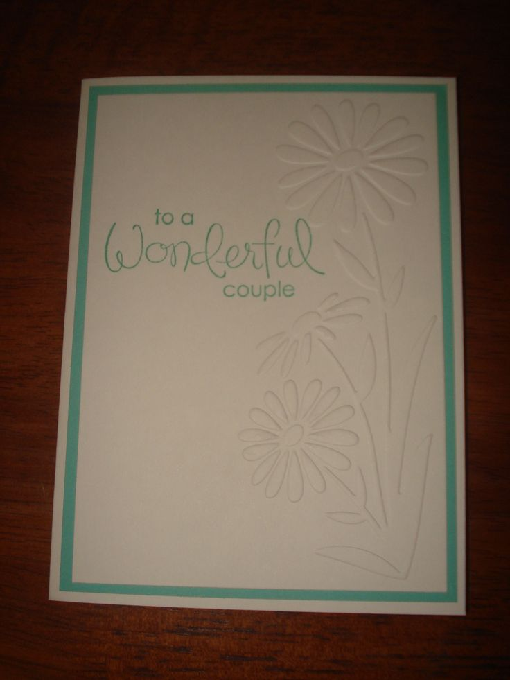 words to write in wedding shower card%0A Wedding shower card using Stampin Up Wonderful Favorites