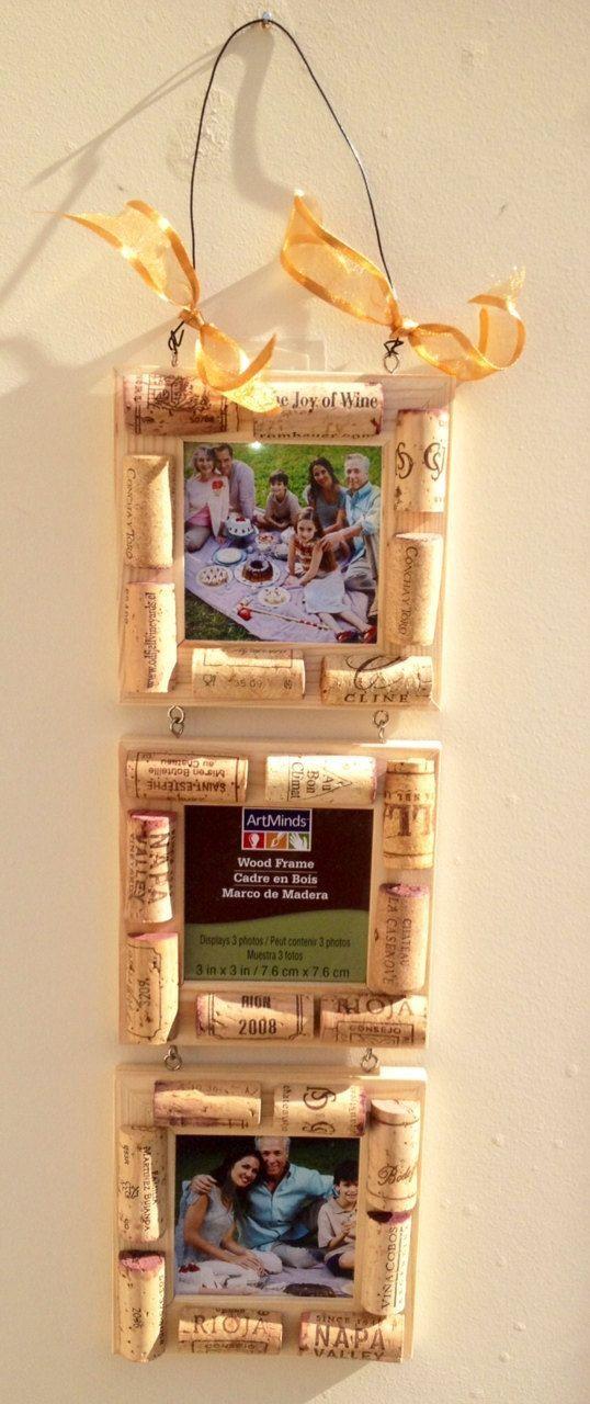 Three Tier Wine Cork frame Cork Frame Wine by MaxplanationPhotos, $18.00