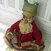 Куклы и игрушки ручной работы. Ярмарка Мастеров - ручная работа Текстильная  лягушка Азалия. Handmade.
