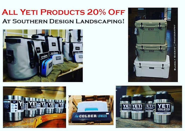 Are you familiar with our Yeti products? They're the BEST! Now you can buy ANY of our Yeti inventory and receive 20% off your purchase!  #southerndesignnursery #georgia #sale #discount #yeti #coolers #rambler #colster #storage #outdoors #spring #special #instalike #Instagram #followme #landscaping #property #home #construction #development #friday