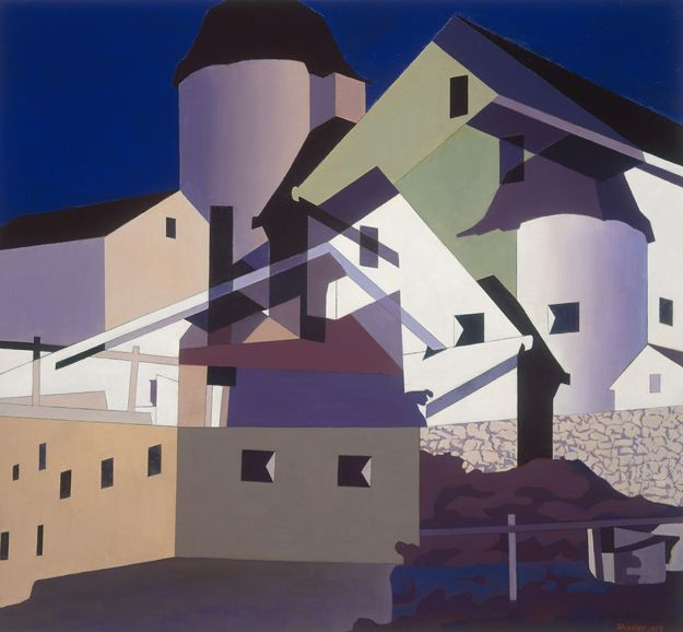 Charles Sheeler - Composition around White (1959)