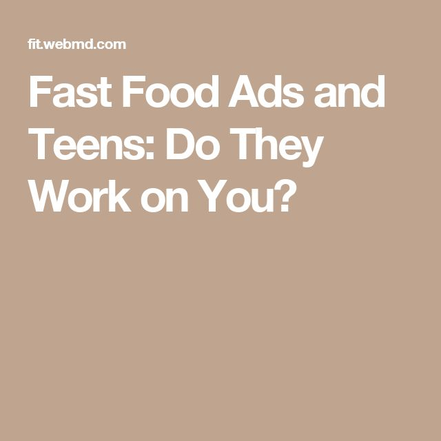 Fast Food Ads and Teens: Do They Work on You?