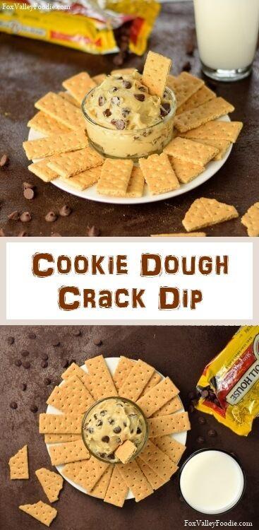 Eggless Cookie Dough Dip  Recipe - Party Dessert via @foxvalleyfoodie