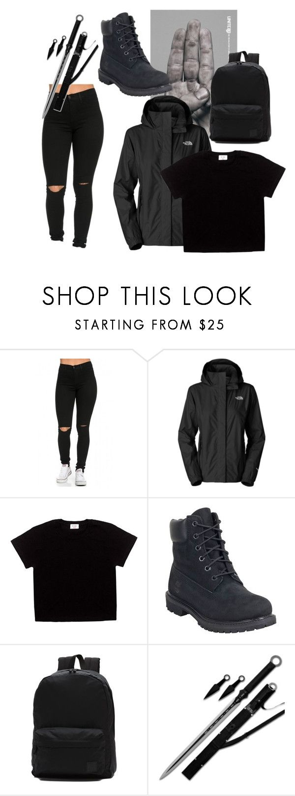 """""""Tomboy Hunger games"""" by tomboy4ev ❤ liked on Polyvore featuring The North Face, Timberland and Vans"""