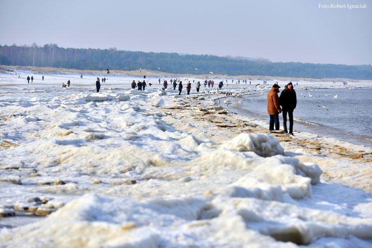 Zima na plaży w Świnoujściu | Świnoujście w sieci
