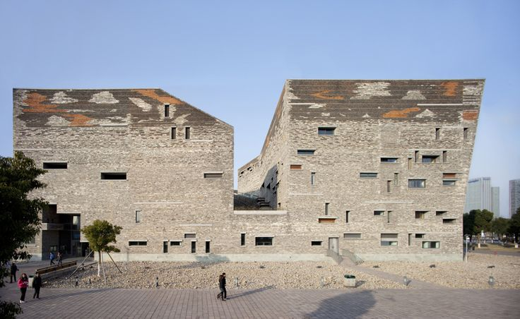 Ningbo Historic Museum, Ningbo Shi, Zhejiang Sheng, China. 2008 designed by Wang Shu
