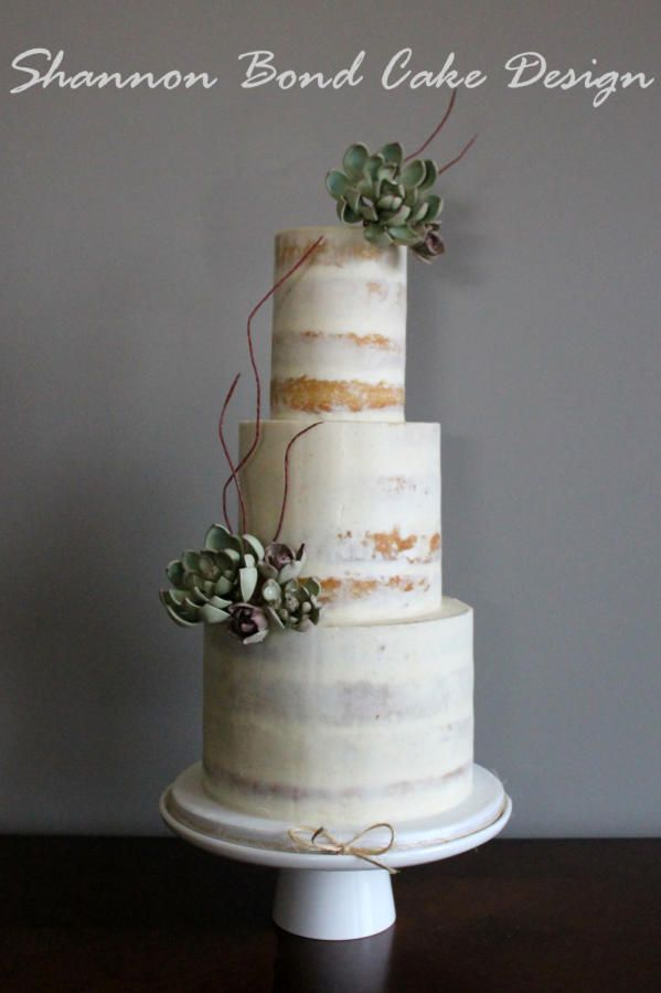Semi-naked Cake - Cake by Shannon Bond Cake Design