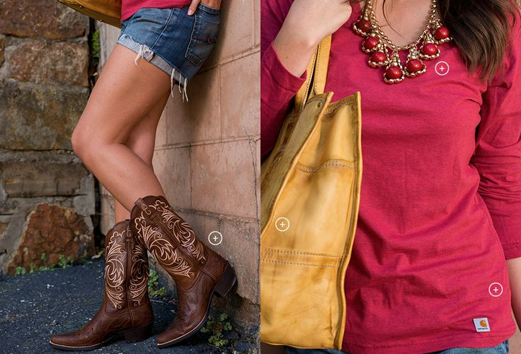 The perfect way to pair brown cowboy boots and a yellow tote for a slash of summer color! | Country Outfitter