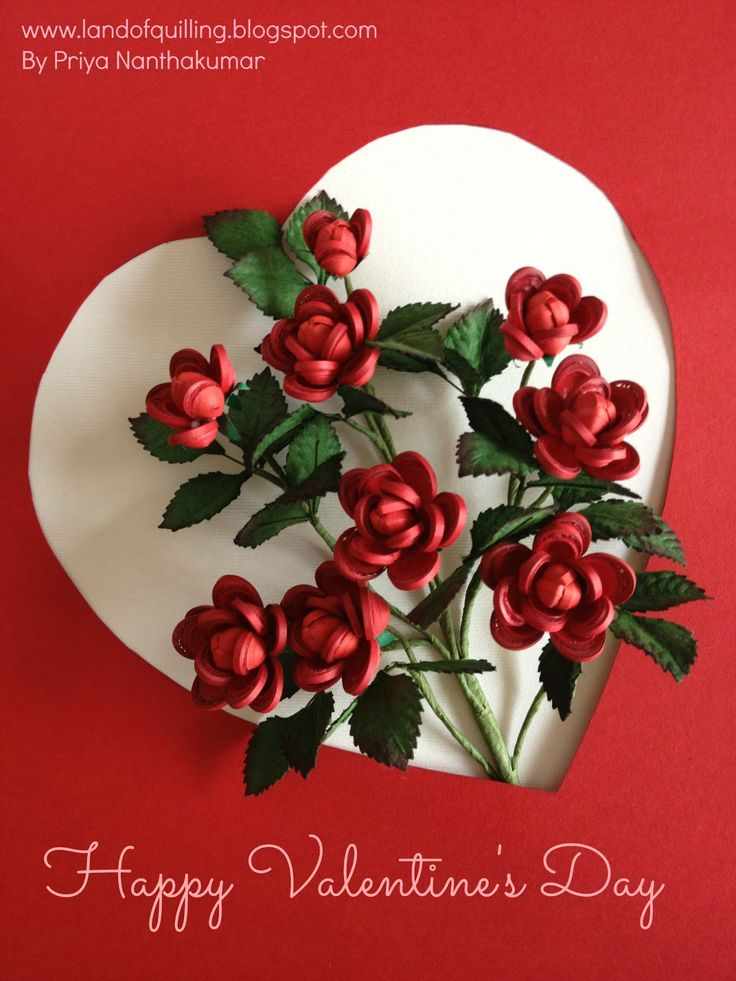 30 best St Valentine cards images on Pinterest  Quilling Paper